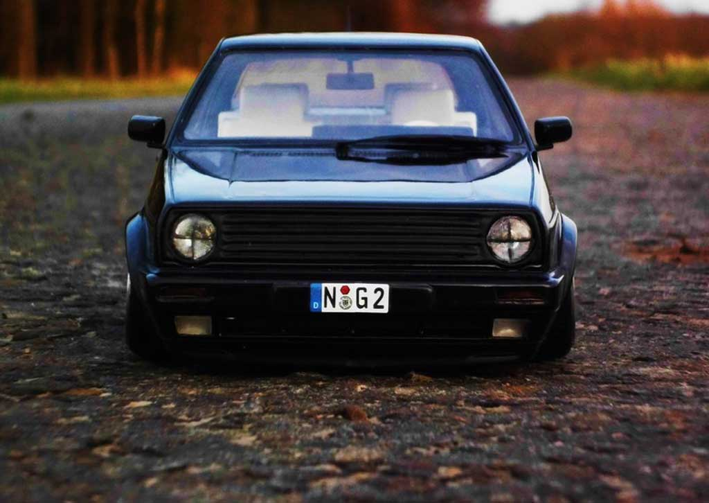 Volkswagen Golf 2 GTI 1/18 Ottomobile 16S black jantes 17 pouces mercedes diecast