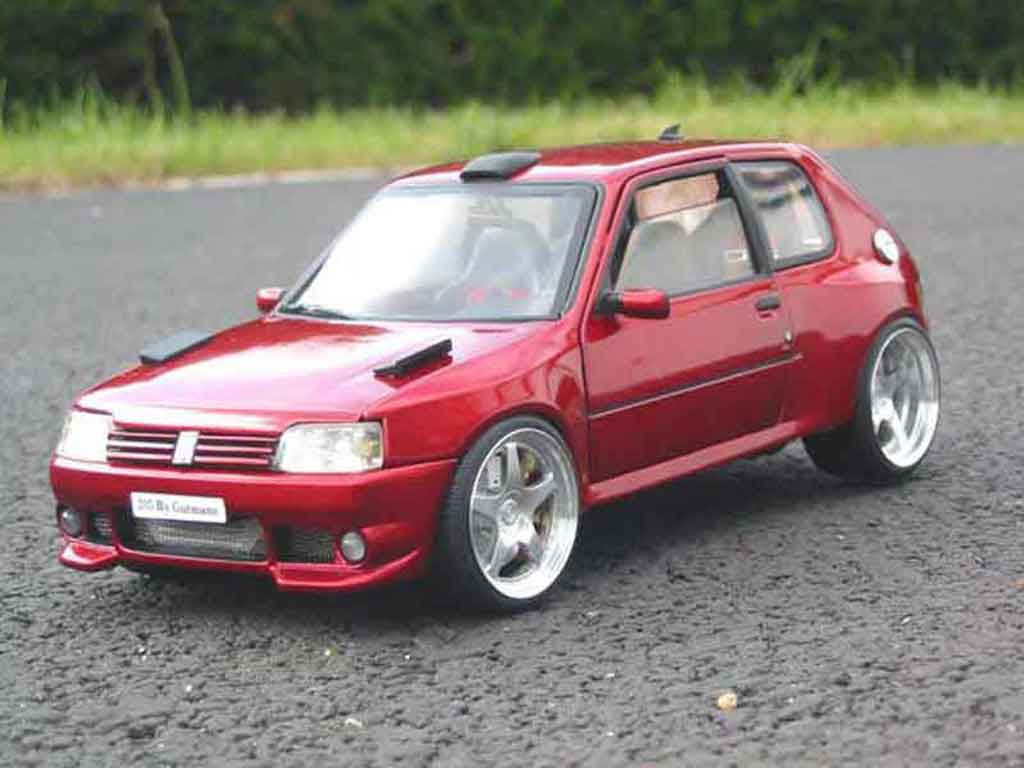 Peugeot 205 GTI 1/18 Solido Dimma preparation tuning miniatura