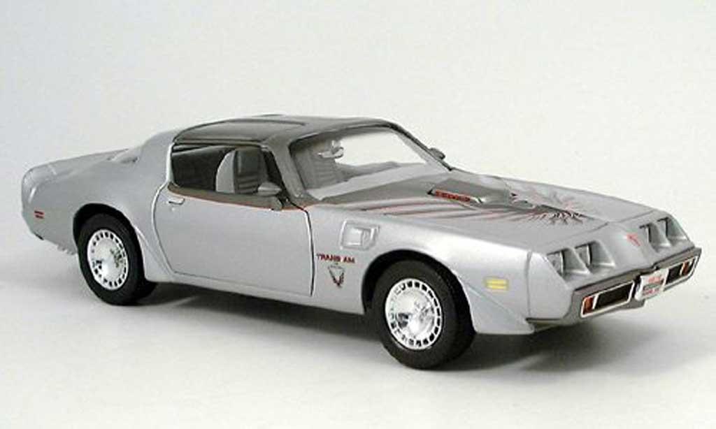 Pontiac Firebird 1979 1/18 Yat Ming trans am grise miniature