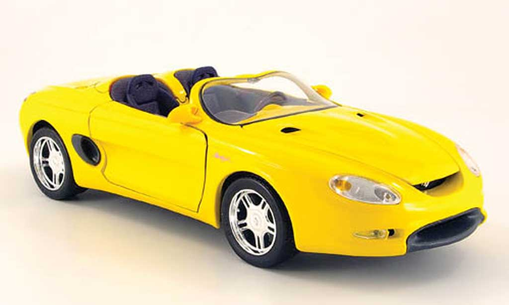 Ford Mustang 1994 1/18 Maisto mach iii yellow diecast model cars
