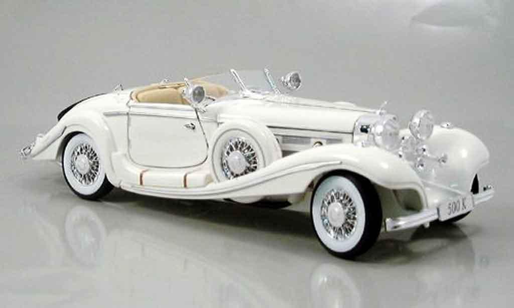 Mercedes 500 K 1/18 Maisto blanche maharajah 1936 miniature