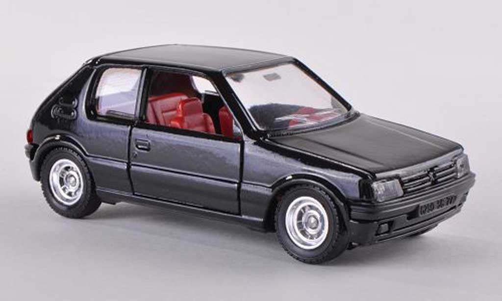 Peugeot 205 GTI 1/43 Solido black 1984 diecast model cars