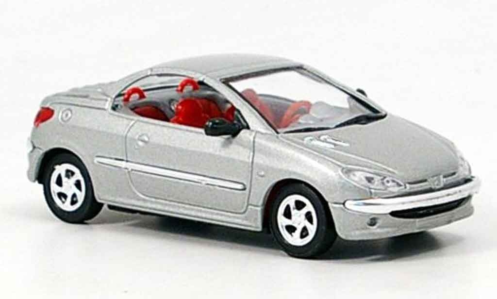 Peugeot 206 CC 1/43 Solido gray interieur red diecast