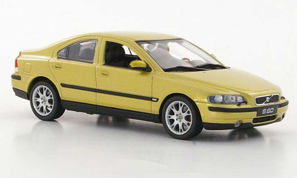 Volvo S60 1/43 Minichamps gold miniature