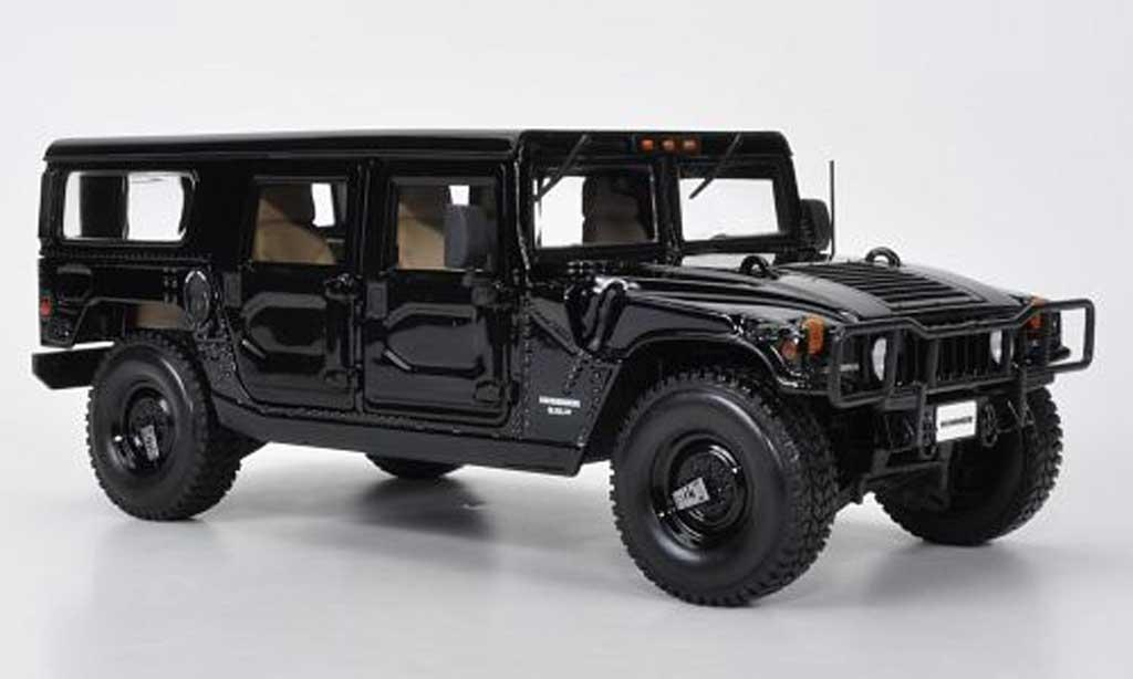 Hummer H1 1/18 Maisto Station Wagon noire miniature