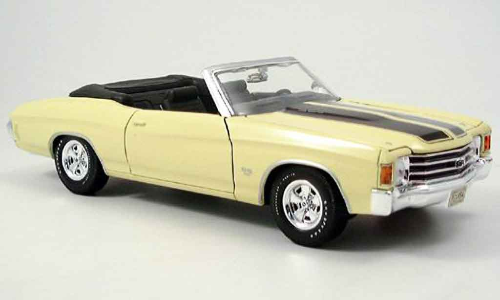 Chevrolet Chevelle 1972 1/18 Maisto SS454 jaune miniature