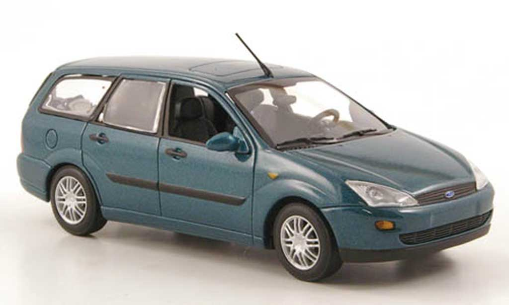 Ford Focus 1/43 Minichamps Turnier verte 1999 miniature