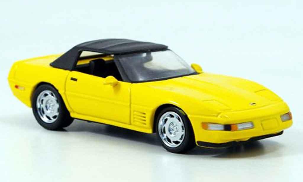 Chevrolet Corvette ZR1 1/43 Detail Cars Cabrio gelb modellautos