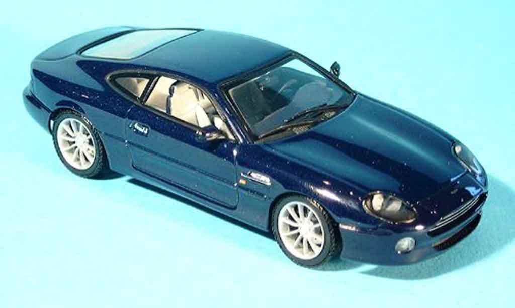 Aston Martin DB7 1/43 Autoart vantage bleu miniature