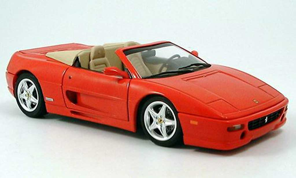 Ferrari F355 Spider 1/18 Hot Wheels rosso 1995 miniatura