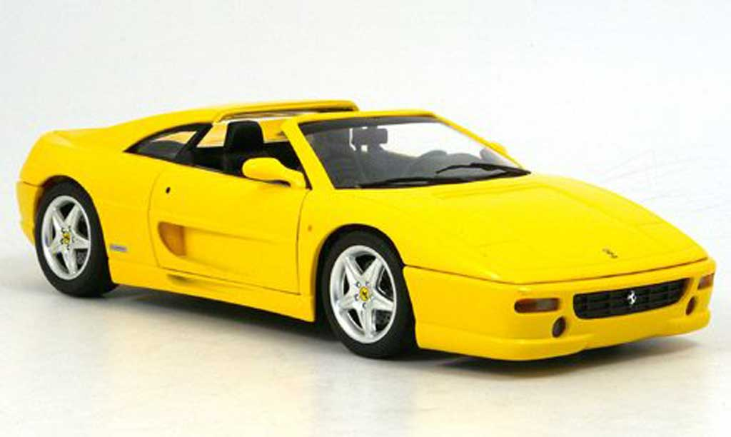 Ferrari F355 Berlinetta 1/18 Hot Wheels gts jaune 1995 miniature
