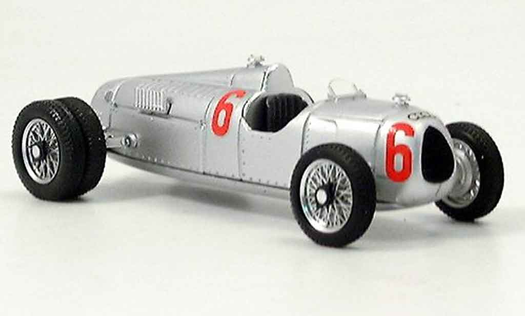 Auto Union Typ C 1/43 Brumm 12 cil. Route gemellate 1936 miniature