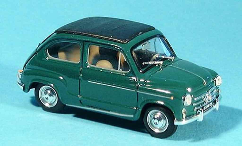 Fiat 600 1/43 Brumm D grun Faltdach geschlossen 1960 miniature