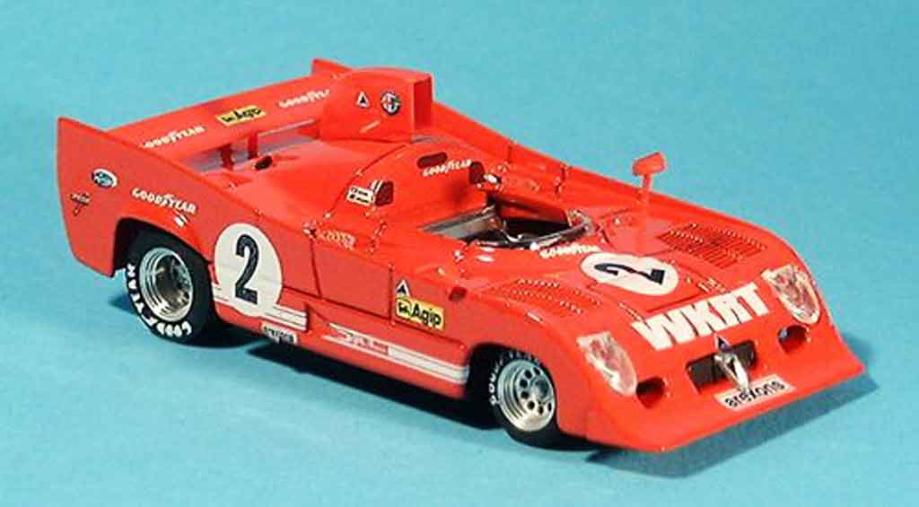 Alfa Romeo 33.3 1975 1/43 Brumm tt 12 no. 2 merzario lafitte 1000 km monza