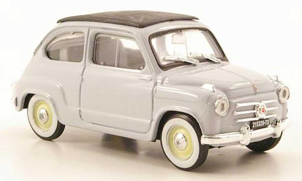 Fiat 600 1/43 Brumm bleu geschlossen 1956 diecast