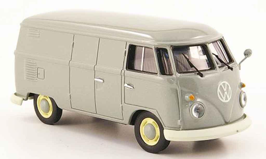Volkswagen Combi 1/43 Minichamps t1 kasten gray diecast