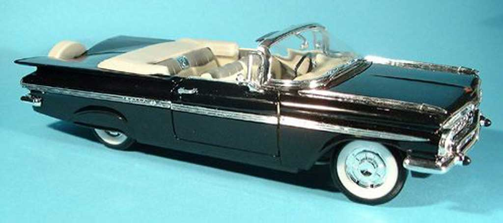 Chevrolet Impala 1959 1/18 Yat Ming black diecast model cars