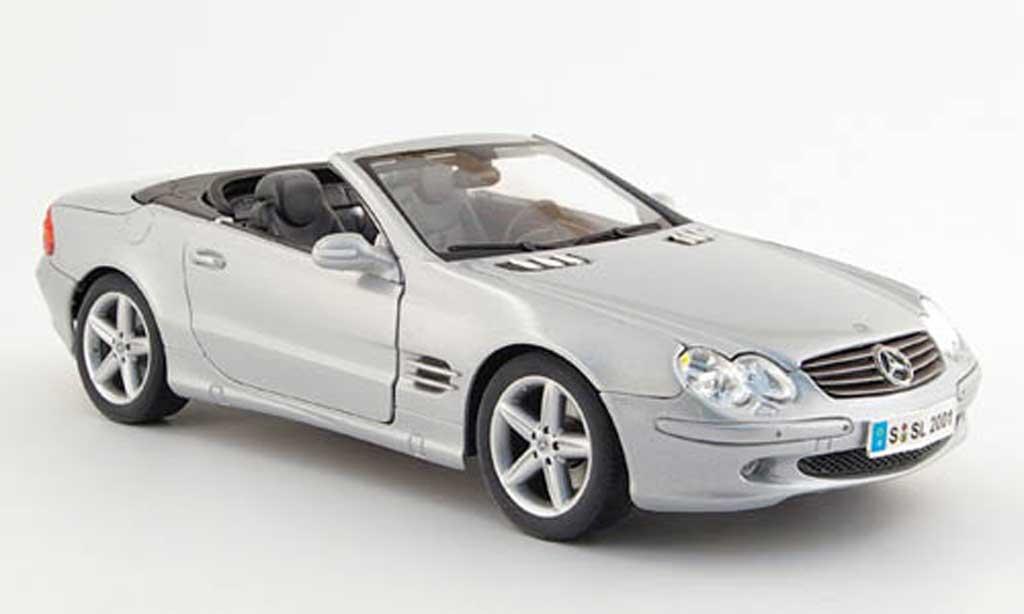 Mercedes Classe SL cabriolet 1/18 Maisto gris 2001 miniatura