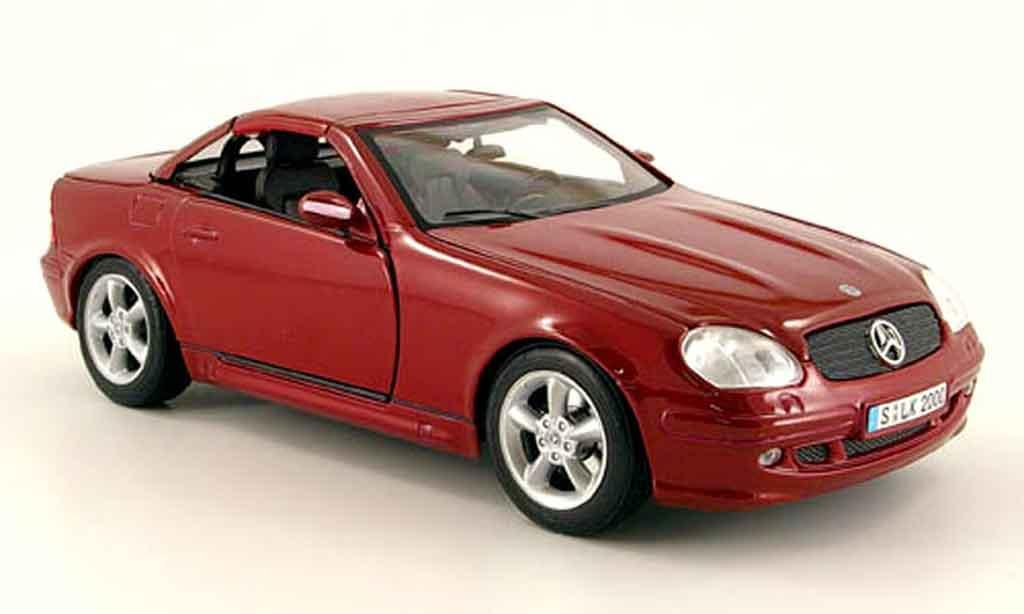 Mercedes Classe SLK 1/18 Maisto hardtop rouge dach zu offnen miniature