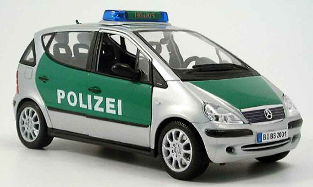 Mercedes Classe A 1/18 Maisto polizei miniature