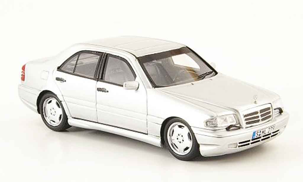 Mercedes Classe C 1/43 Spark C43 AMG (W202) grise metallisee miniature