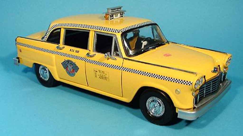 Checker Taxi 1/18 Sun Star new york 1981 a11 miniature
