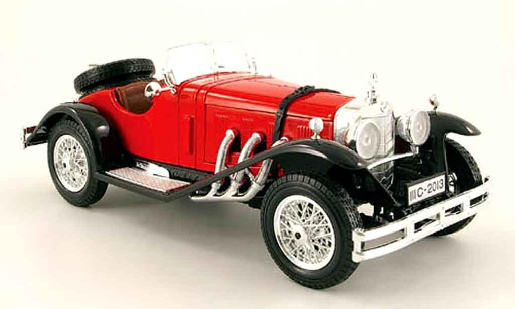 Mercedes SSK 1/18 Burago rouge noire miniature