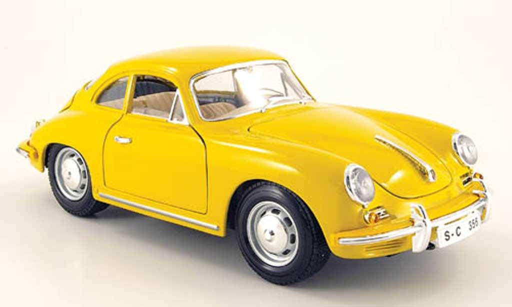 Porsche 356 1961 1/18 Burago B jaune miniature