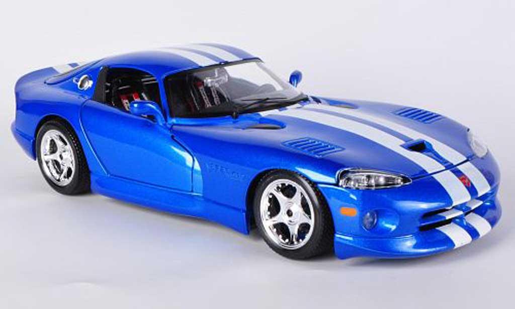 Dodge Viper GTS 1/18 Burago Coupe bleu 1996 miniature