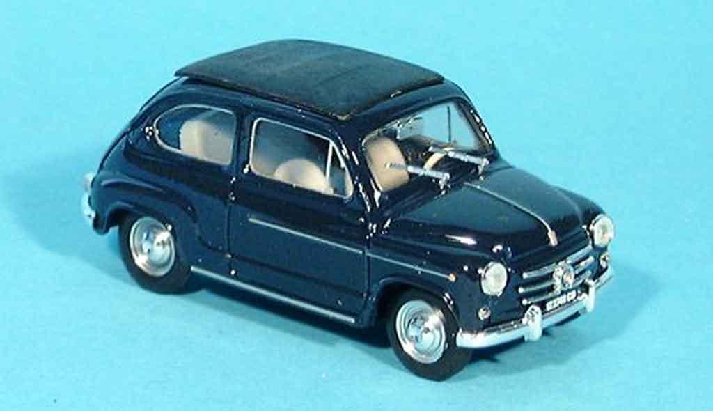 Fiat 600 1/43 Brumm D bleu geschlossen 1960 miniature