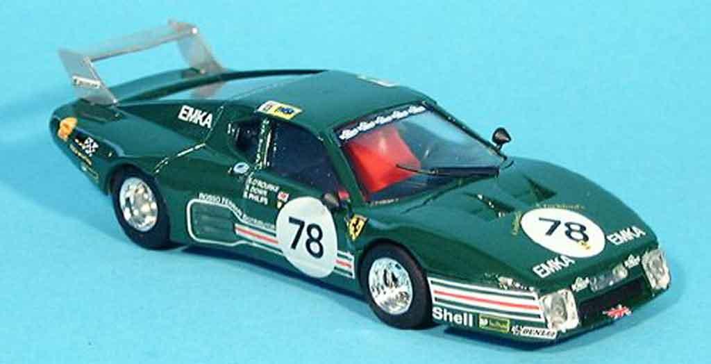 Ferrari 512 BB LM 1/43 Brumm no.78 scuderia emka le mans 1980 miniatura