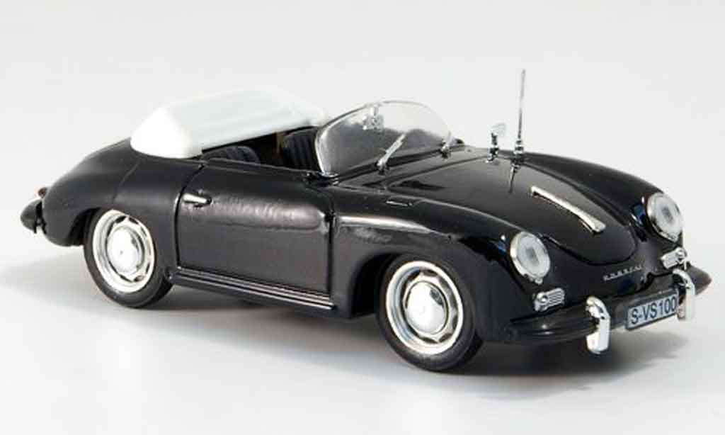 Porsche 356 1963 1/43 Brumm C Spyder noire geoffnetes Verdeck miniature