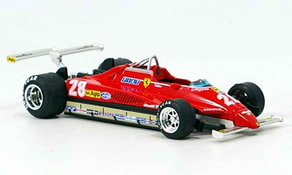 Ferrari 126 1982 1/43 Brumm C2 no.28 d.pironi gp long beach miniature