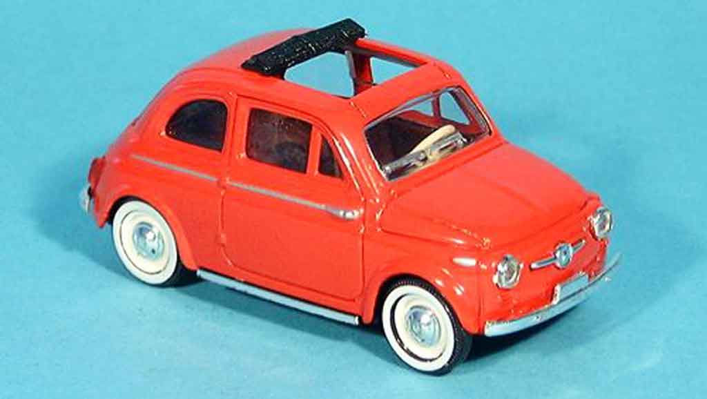 Fiat 500 1/43 Solido red offen 1957 diecast model cars