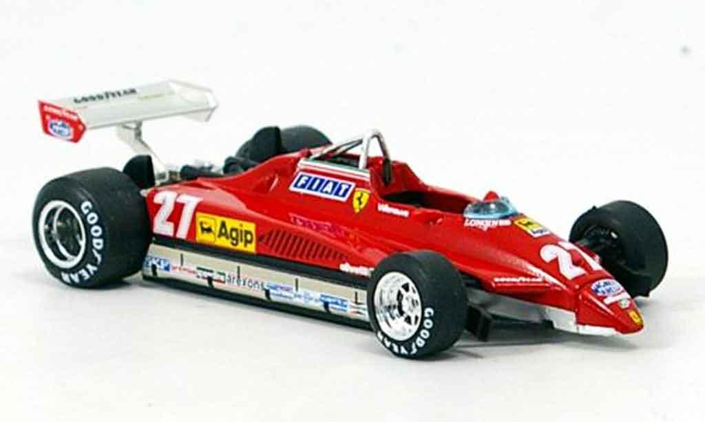 Ferrari 126 1982 1/43 Brumm C2 no.27 g.villeneuve gp san marino miniature