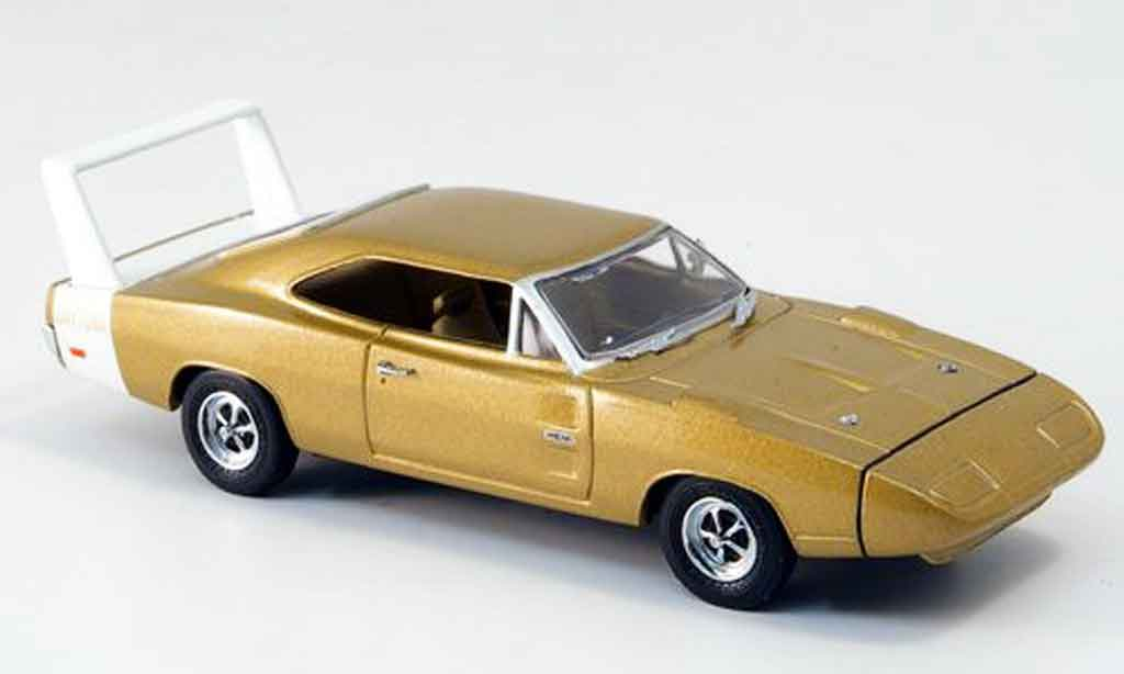 Dodge Charger 1969 1/43 Eagle Charger Daytona or avec whiteem Heckspoiler diecast