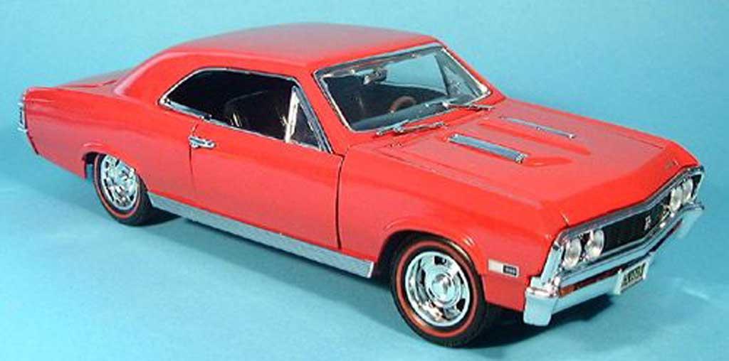 Chevrolet Chevelle 1967 1/18 Motormax SS396 rojo coche miniatura
