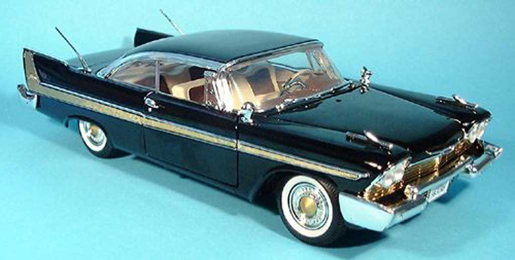 Plymouth Fury 1/18 Motormax noire 1958 miniature