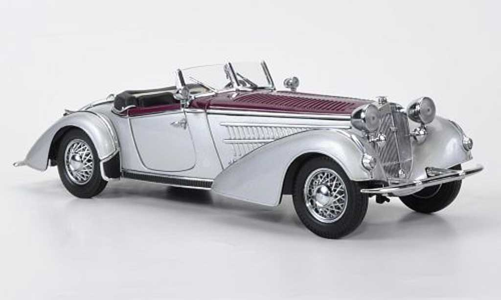 Horch 855 1/18 Sun Star Roadster grise metallisee/weinrouge 1939