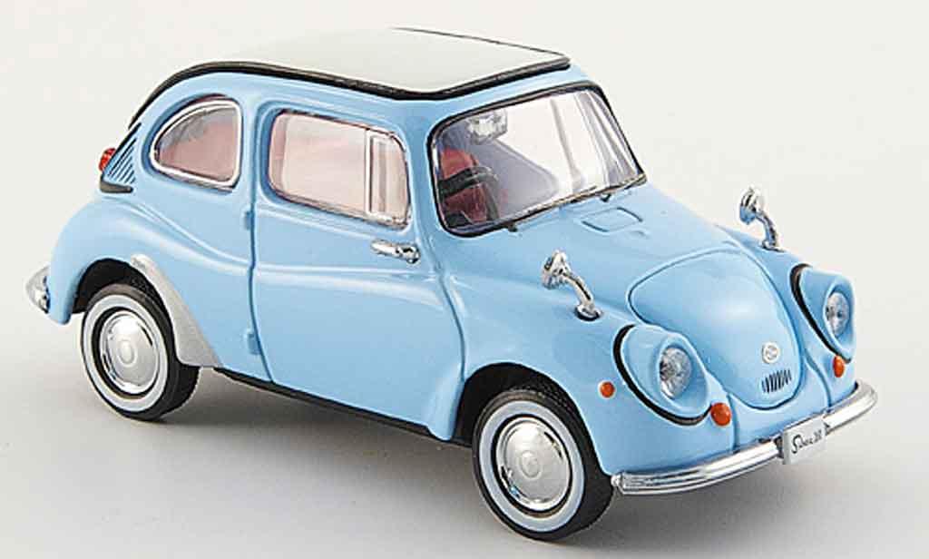 Subaru 360 1/43 Ebbro bleu 1963 miniature