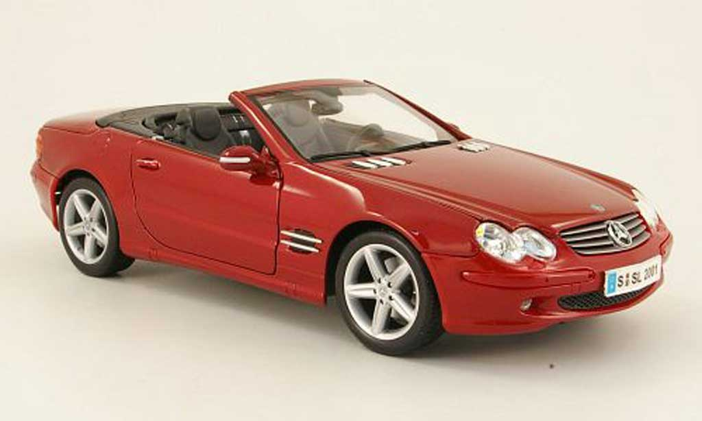 Mercedes Classe SL cabriolet 1/18 Maisto cabriolet rouge offen 2001 miniature