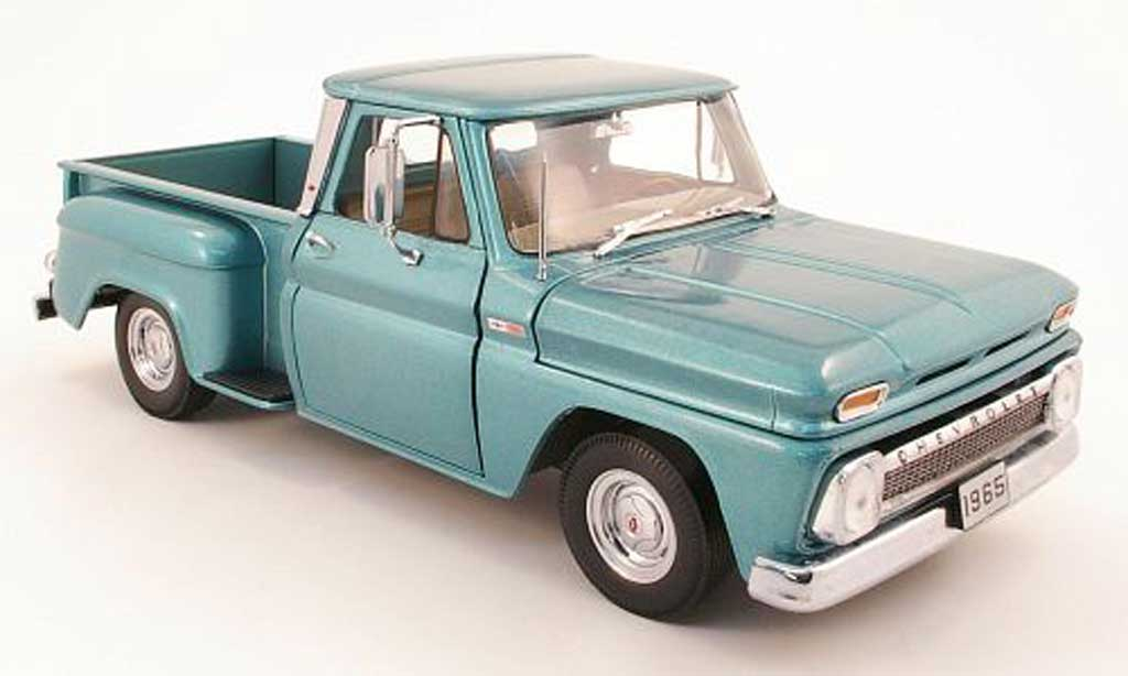 Chevrolet C-10 1/18 Sun Star pick up stepside turquoise 1965 miniature