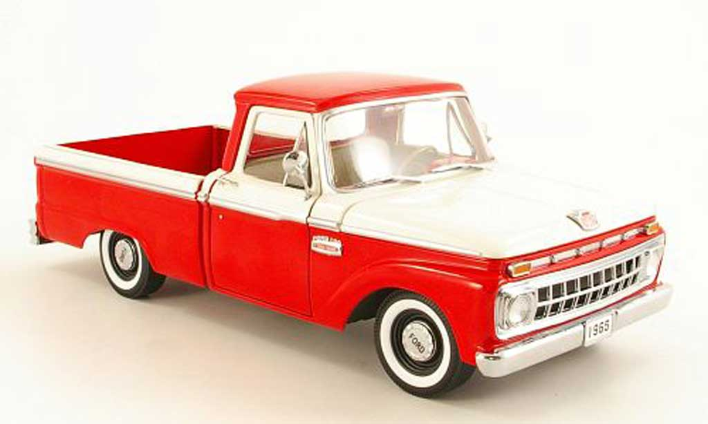 Ford F 100 1/18 Sun Star rouge/blanche 1965 miniature