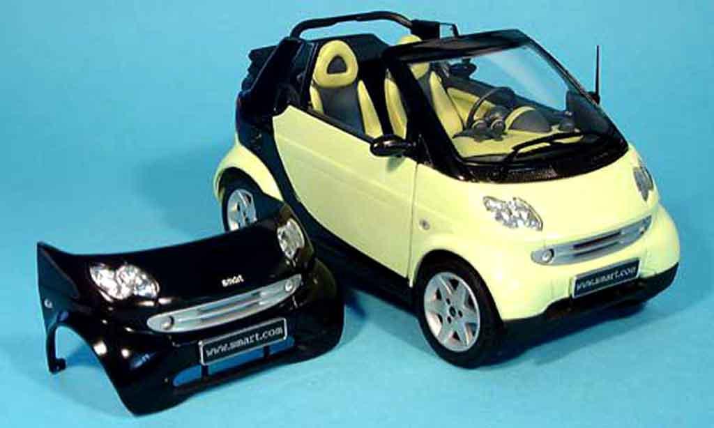 Smart Cabriolet 1/18 Kyosho verte (bodypanel noire) miniature