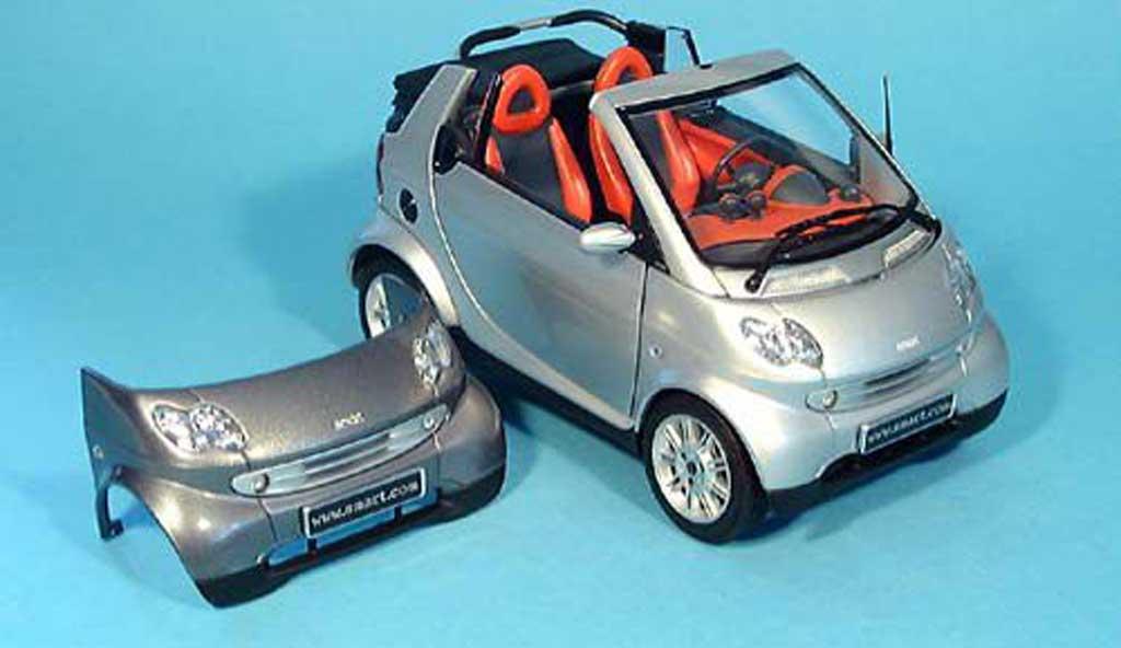 Smart Cabriolet 1/18 Kyosho grise (bodypanel grise) miniature