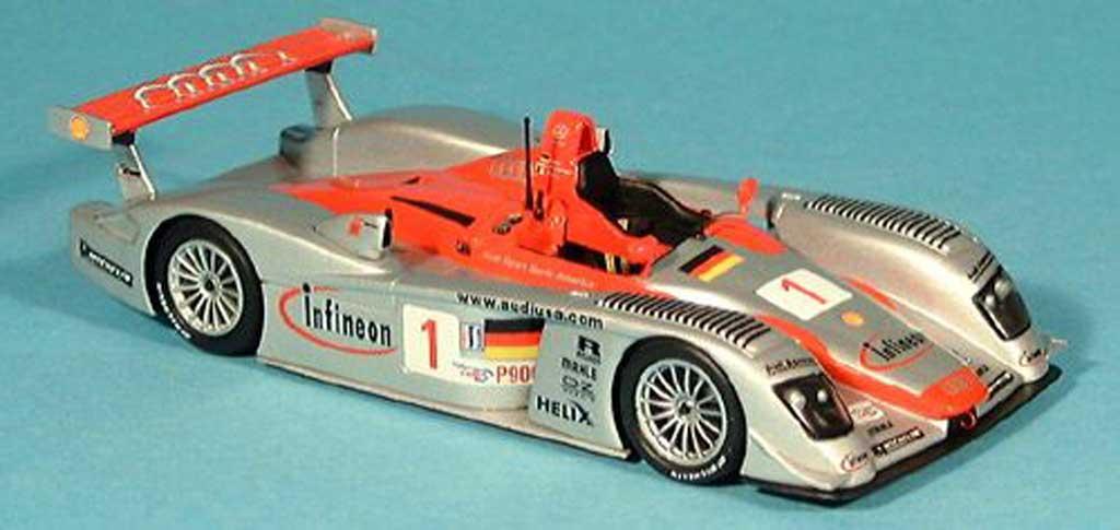 Audi R8 LMS 1/43 Minichamps No.1 Team Sport North America F.Biela / T.Kristensen / E.Pirro 12h Sebring 2002 miniature