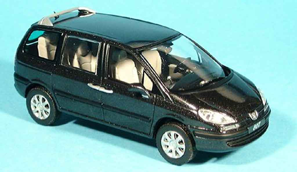 Peugeot 807 1/43 Norev noire 2002 miniature