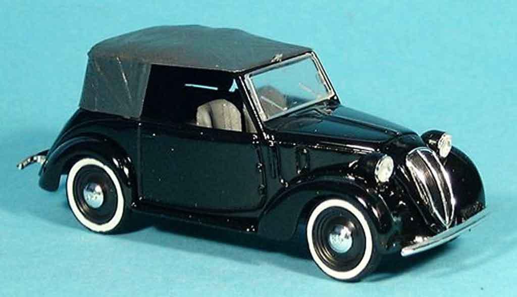 Fiat 1100 1937 1/43 Brumm Cabriolet (508 C) noire miniature