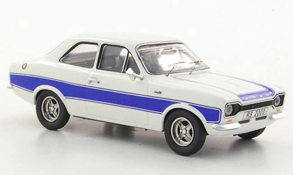 Ford Escort RS 2000 1/43 Trofeu MkI blanche/bleu RHD miniature