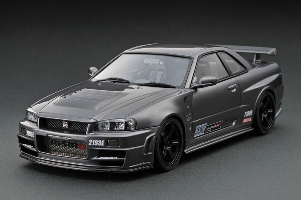 Nissan Skyline R34 1/18 Ignition Model Nismo Omori Factory C IG0012 miniature